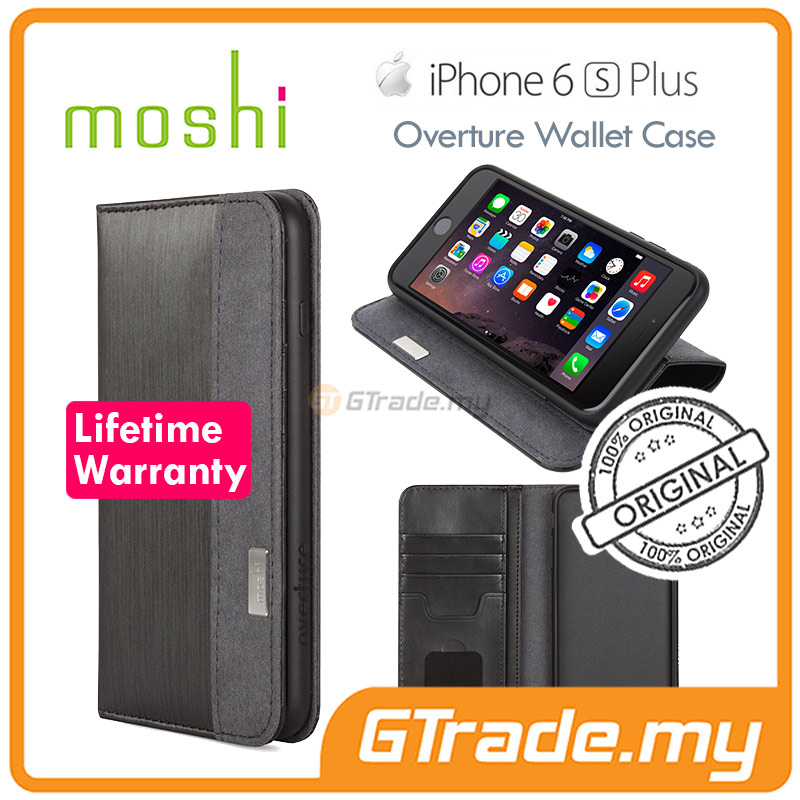 MOSHI OVERTURE Wallet Cover Case | Apple iPhone 6S 6 Plus - Black
