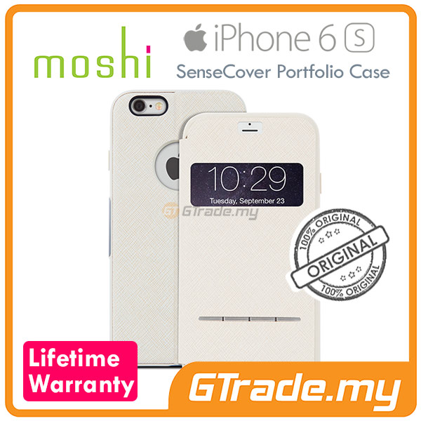 MOSHI SENSECOVER Smart Folio Case | Apple iPhone 6S 6 - Beige