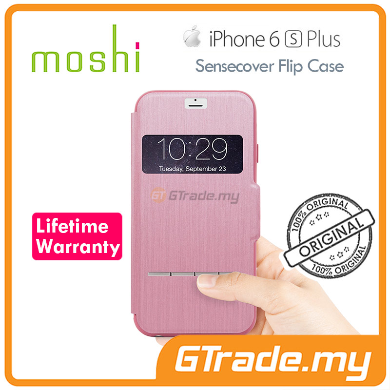 MOSHI SENSECOVER Smart Folio Case | Apple iPhone 6S 6 Plus - Pink