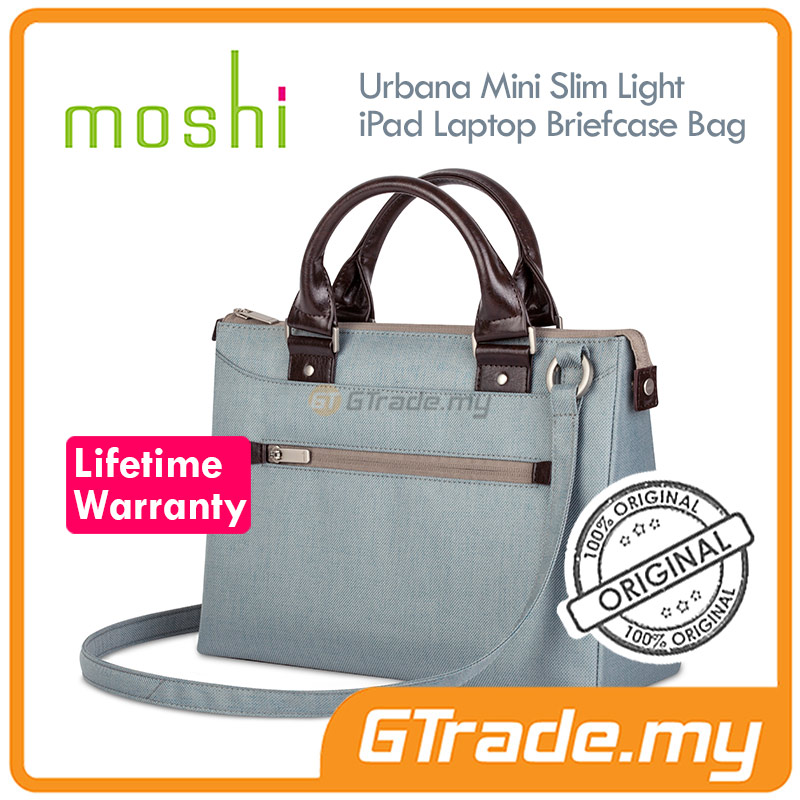 MOSHI Urbana Mini Handbag Laptop Bag Blue | Apple Macbook 12' iPad