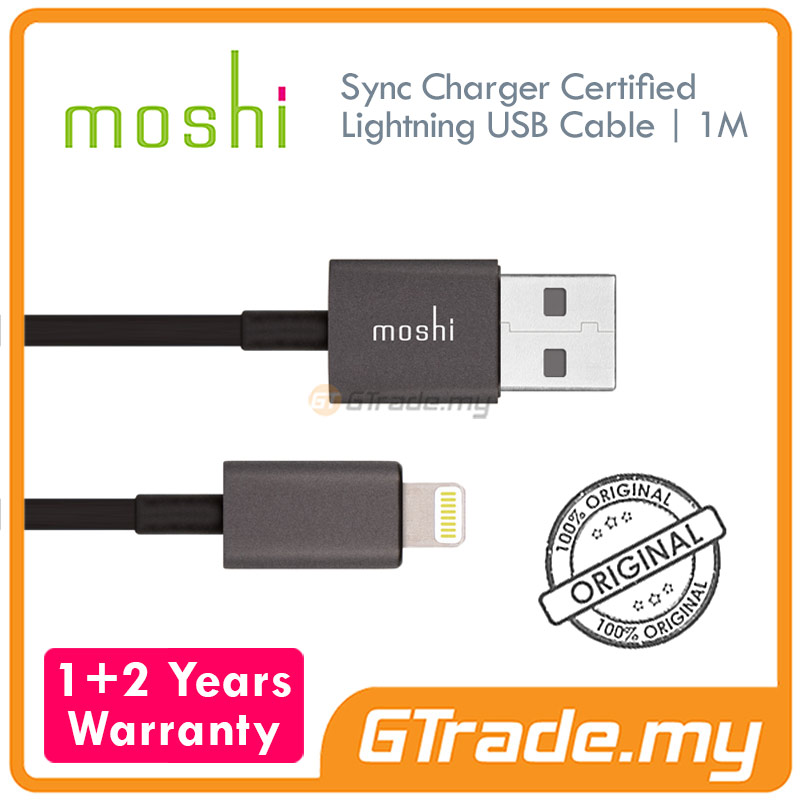 MOSHI USB Lightning Cable 1 Meter Black | Apple iPhone SE 5S 5C 5