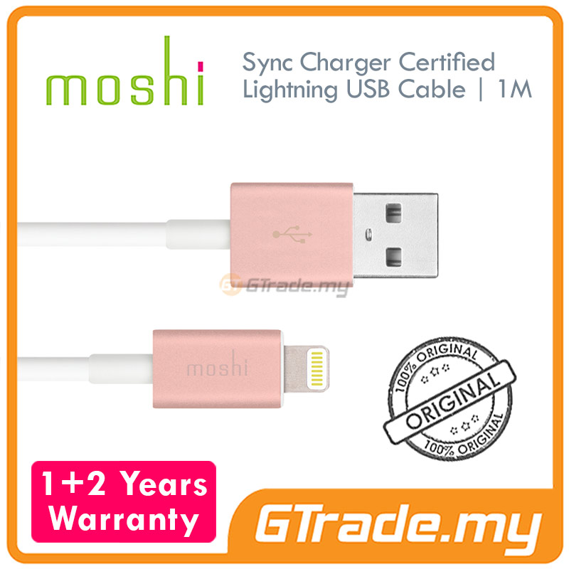 MOSHI USB Lightning Cable 1 Meter  Rose | Apple iPhone 6S 6 Plus
