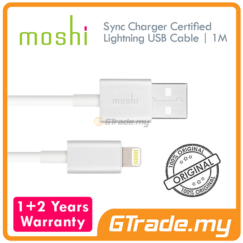 MOSHI USB Lightning Cable 1 Meter White | Apple iPad Air 4 3 2 1