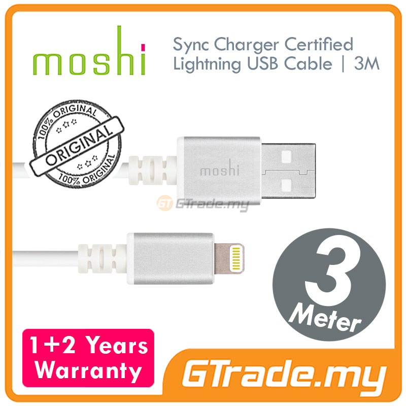 MOSHI USB Lightning Cable 3 Meter | Apple iPhone SE 5S 5C 5