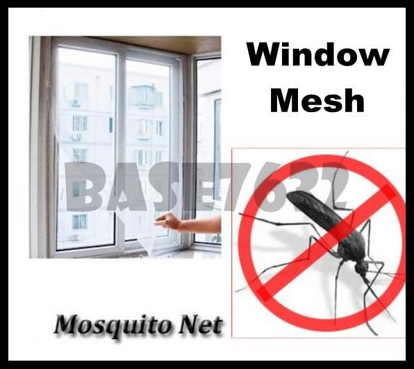 Mosquito Insect Bug Repeller Window Mesh Trap Net w/ Tape 130x150cm