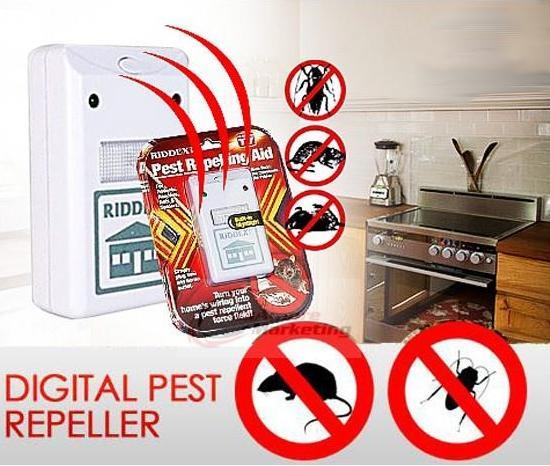 Mosquito Rat Repelling Repeller Aid Pest Reject Built-in Night LED