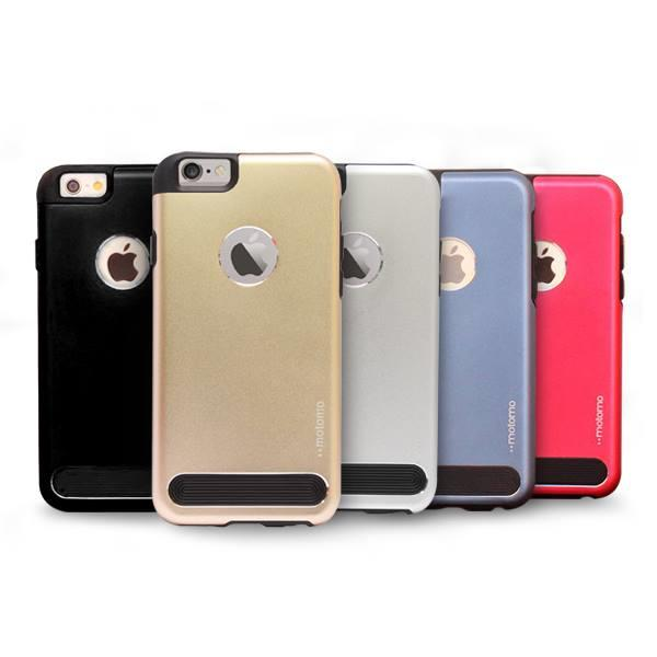 Motomo TPU Metal Back Mobile Phone Case Cover for iPhone 6 Plus