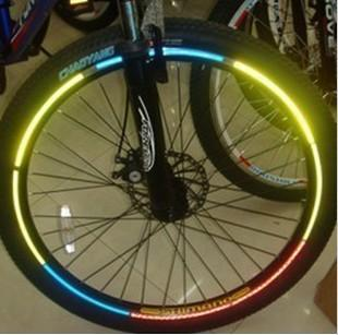 Motorcycle Bicycle Reflective Wheel Rim Sticker Tape for 10'~28' bike