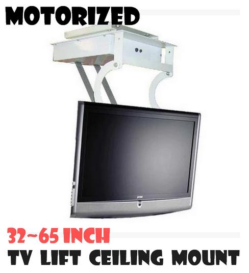 Flat screen tv wall mounts quotes for Motorized flip down tv mount