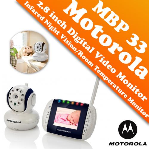 motorola mbp 33 2 8 inch digital video baby monitor color lcd screen penan. Black Bedroom Furniture Sets. Home Design Ideas