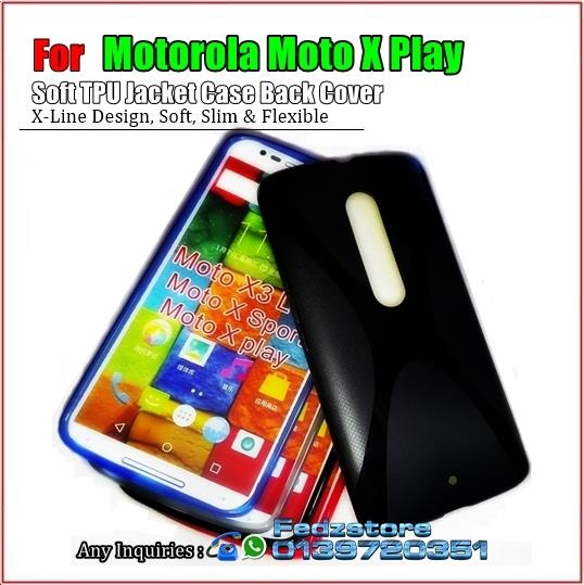 Motorola Moto X Play - Soft TPU Jacket Case Back Cover
