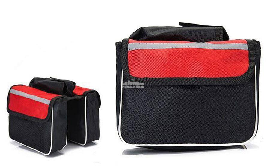 Mountain Bike Bicycle Accessories Front Tube Saddle Bag