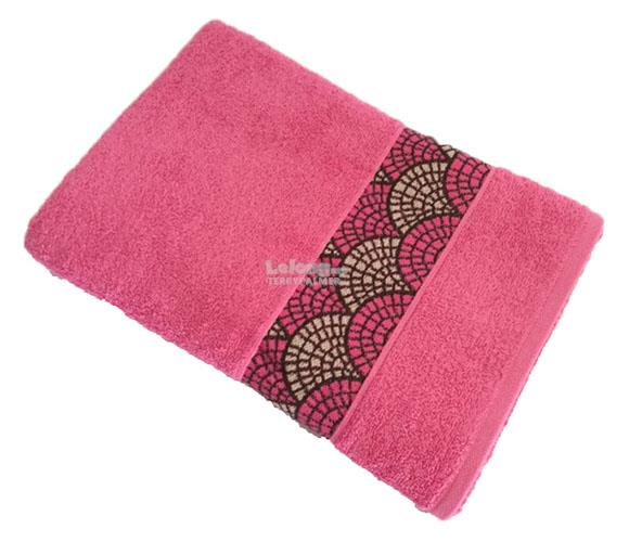 MP OSHRIT 100%Cotton dobby border bath towel 70x135cm - Pink