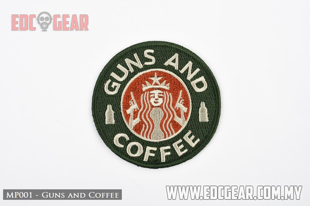 MP001 - Guns and Coffee - Military Morale Patches