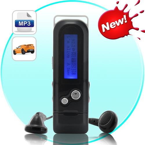 MP3 Player and 4GB Flash Drive with FM Transmitter + Car Kit(Black)
