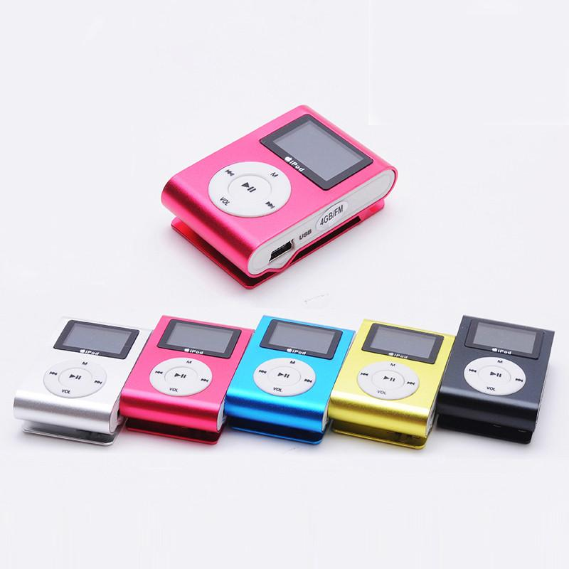 MP3 Player with LCD Micro TF/SD Slot  Portable MP3 Mini