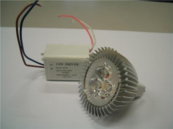 MR16 12v 3w warm white LED (Super Bright) c/w driver