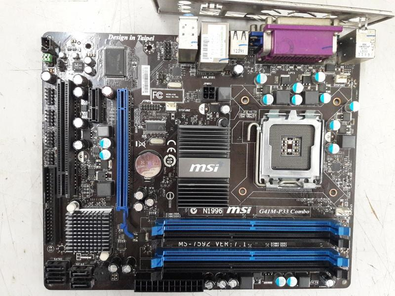 MSI G41M-P33 Combo Intel Socket LGA775 Mainboard 291116