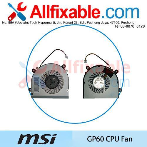MSI GP60 GP70 MS-16GD MS-16GD22 MS-16GD46 DFS451205M10T-F98D CPU Fan