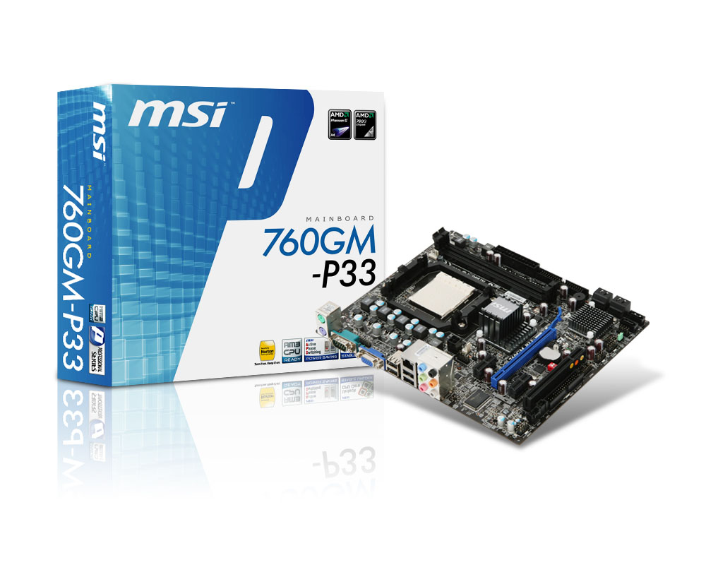 MSI MAINBOARD AMD AM3+ S938 760GM-P33