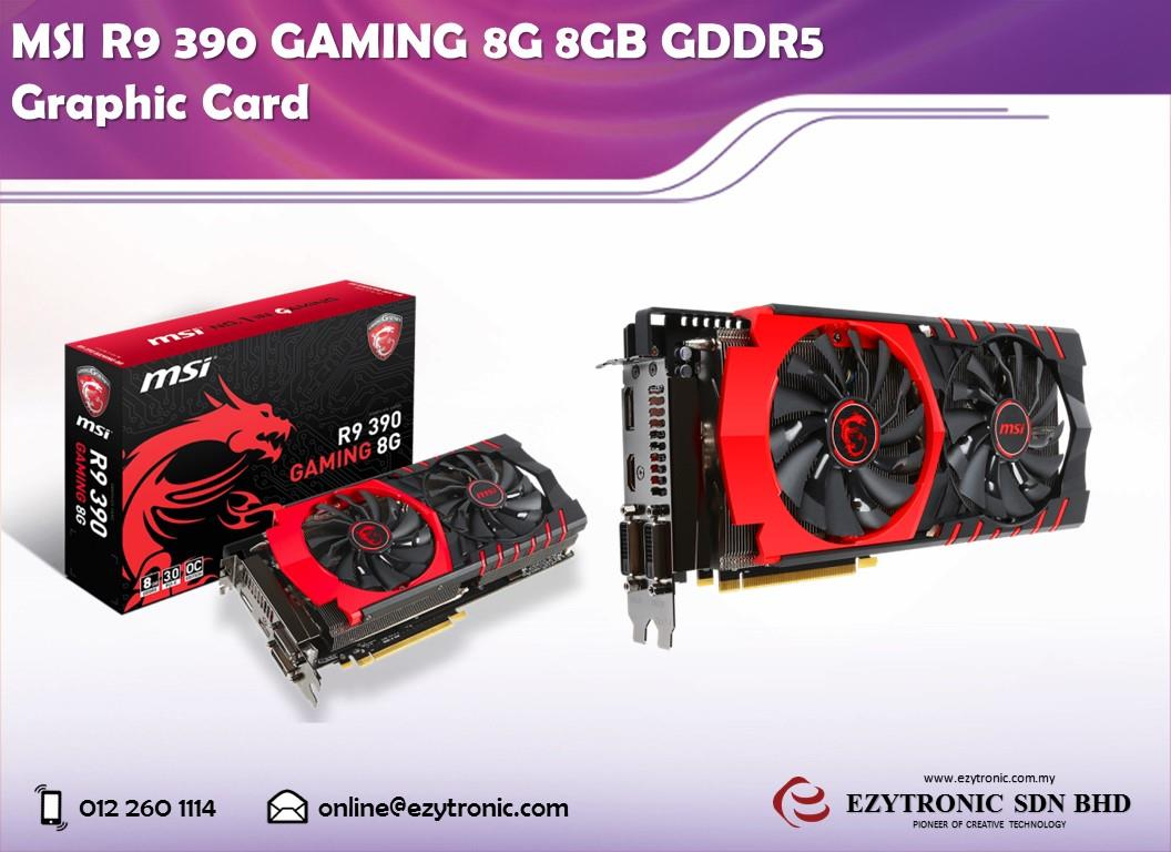 MSI R9 390 GAMING 8G 8GB GDDR5 Graphic Card
