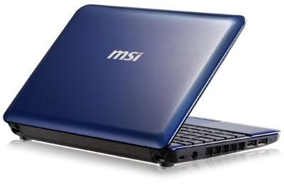 MSI U180 Atom Duo core N2600  1.66GHz 2 Gb 320 GB netbook notebook