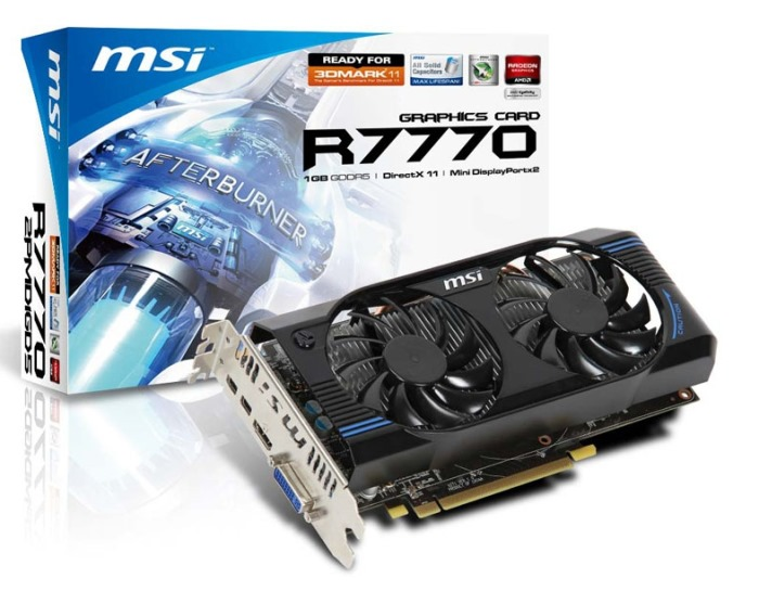 MSI VGA PCI-E ATI HD7770 1GB DDR5 128bit (R7770-2PMD1GD5)