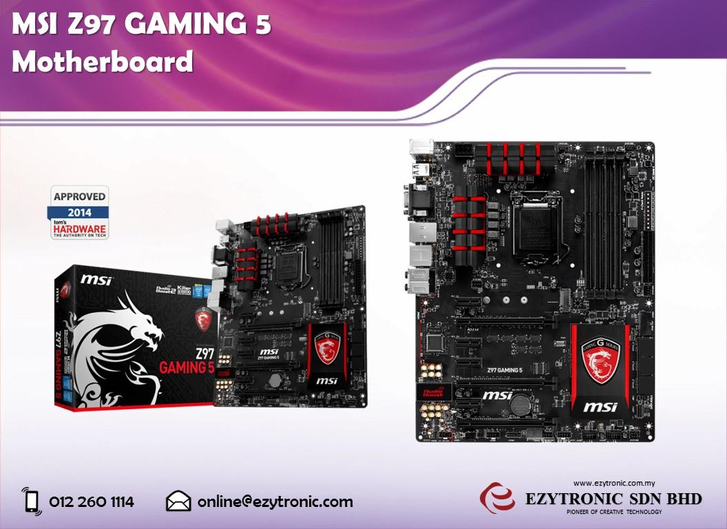MSI Z97 GAMING 5 Motherboard (end 4/6/2017 3:15 PM - MYT )