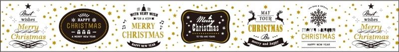 mt Christmas Messages Masking Tape - White