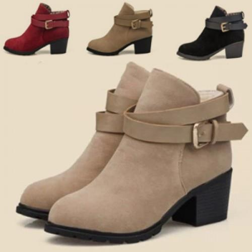 MT004865 Europe Belt Buckle Women's Martin Boots Shoe