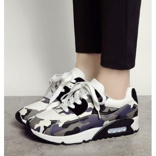 MT006391 Europe Camouflage Thick-Bottomed Female Cushion Sports Shoes
