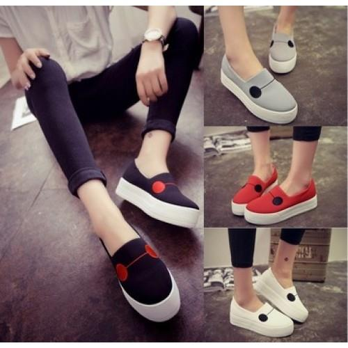 MT007456 Thick-Bottomed Leisure Cute Flat Canvas Shoes