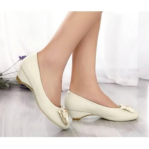 MT008401 Genuine Leather Bow Women Shoes