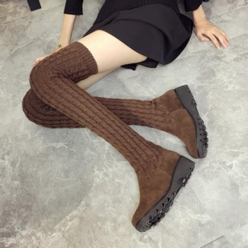 MT009561 Flat Wool Long Boots