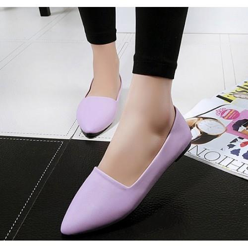MT010815 Solid Flat Point Head Shoes