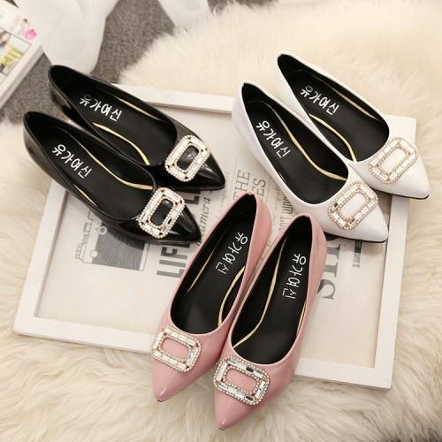 MT010932 Korean Big Large Size Thin Heel OL Shoes