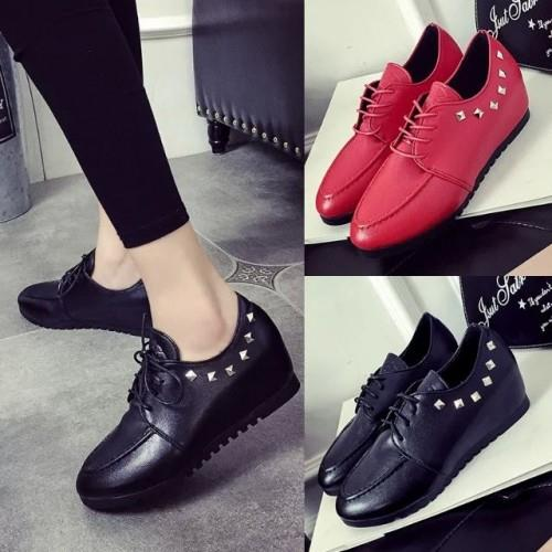 MT011277 Korean Casual Women Flat Lacing Shoes