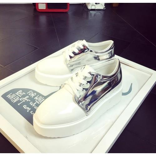 MT011279 Korean Patent Leather Casual Shoes