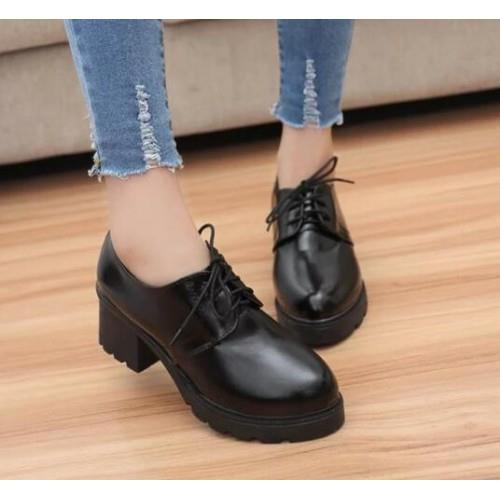 MT011290 England Casual Thick Heel Shoes