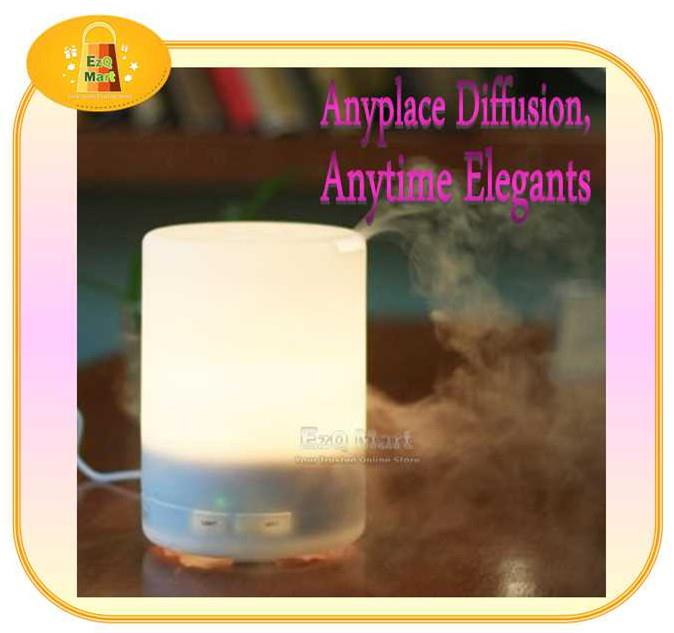 'Muji Style' Ultrasonic Aroma Diffuser with LED light (300ml)