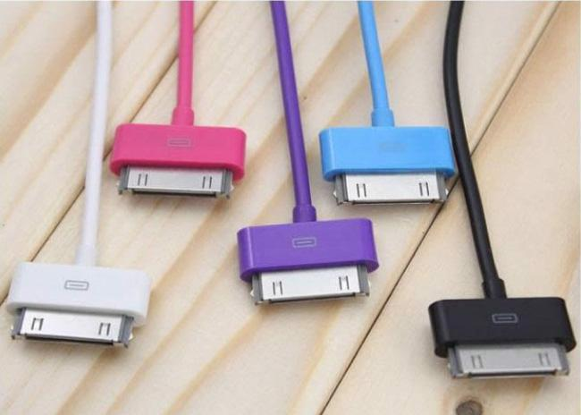 multi color usb charger cable for iphone 3 3gs 4 4s ipod. Black Bedroom Furniture Sets. Home Design Ideas