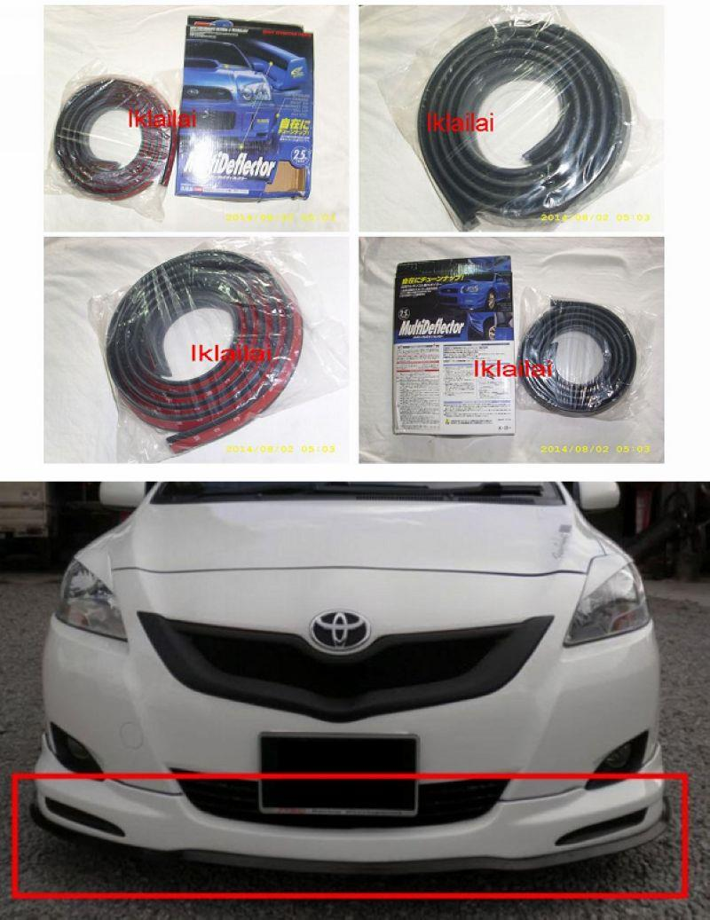 Multi Deflector Body Effective Parts Rubber Suitable for All Car 2.5 m