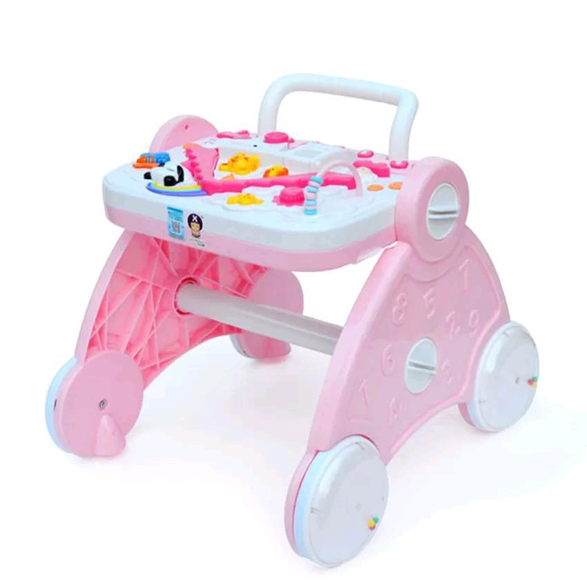 Multi function Baby Walker Early Education - Pink