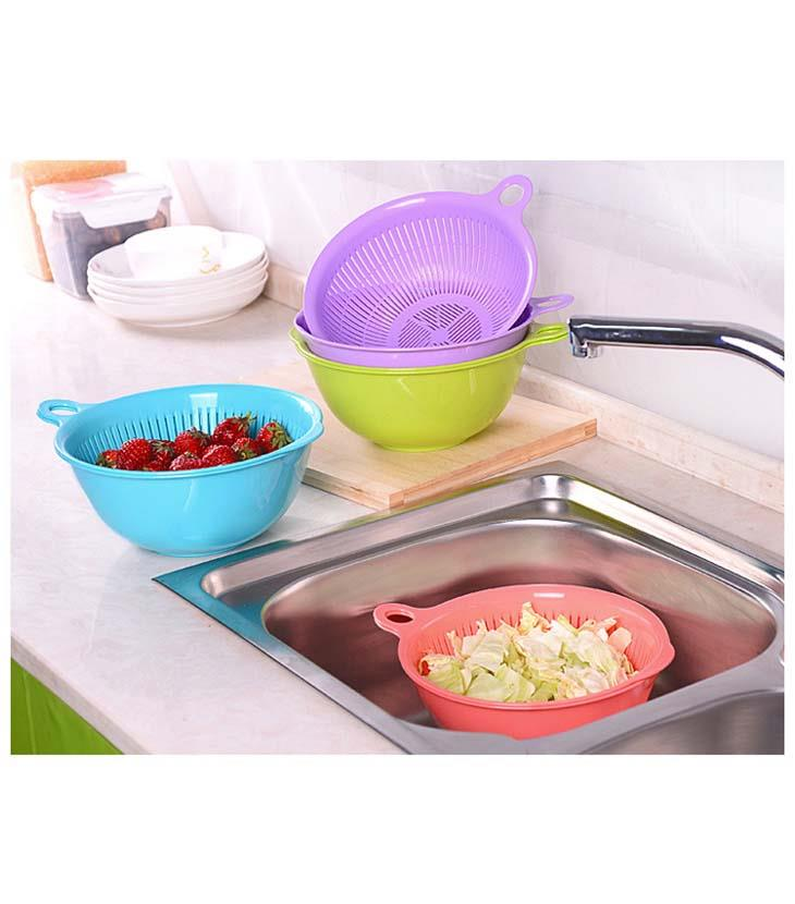Multi-Purpose Double Layer Round Shape Dripping Basket
