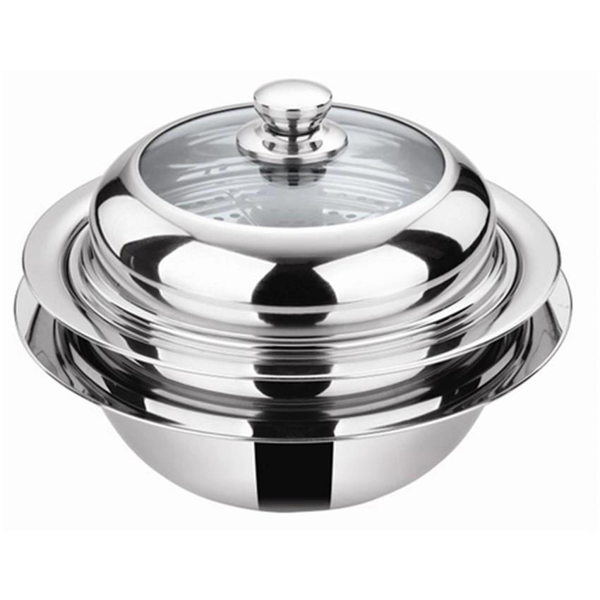 Multi Purpose UFO Steamer cookware Pot 30cm Silver
