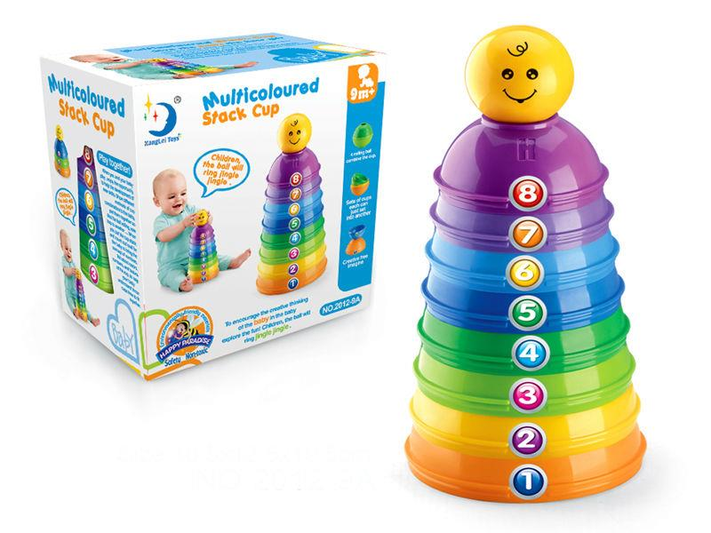 Multicoloured Stack Cup (For Ages 9 Months +)