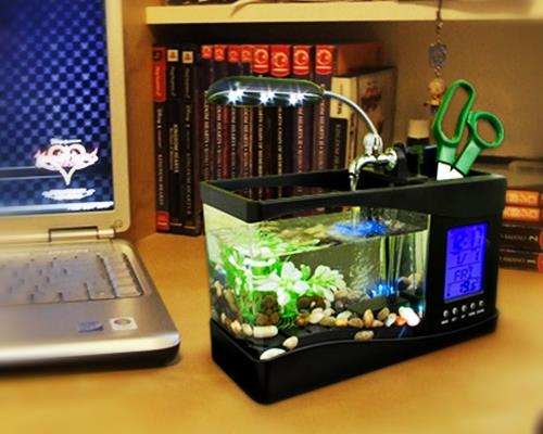 Multifunction electronic usb desktop fish tank mini usb for Desktop fish tank