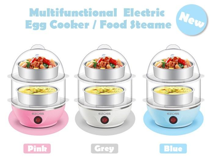 Multifunctional electric egg/food steamer