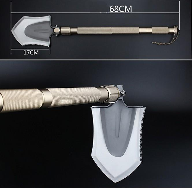 Multifunctional Tactical Shovel Spade For Outdoor Camping