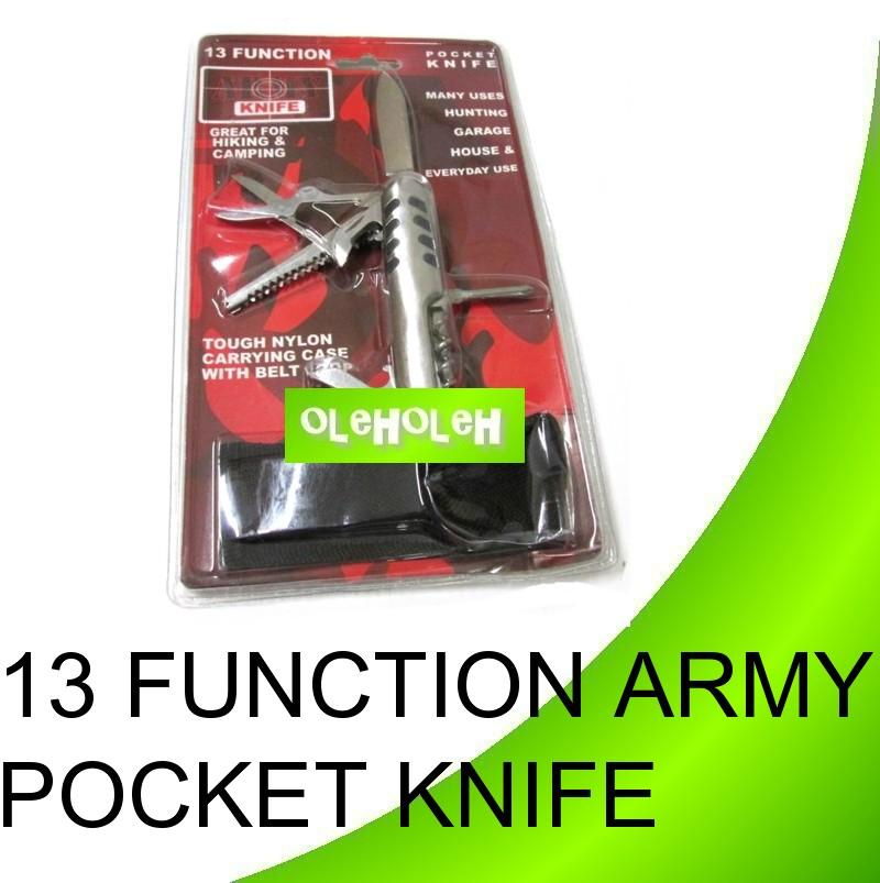 Multipurpose 13in 1 Army Pocket Knife Multifunction Folding Household
